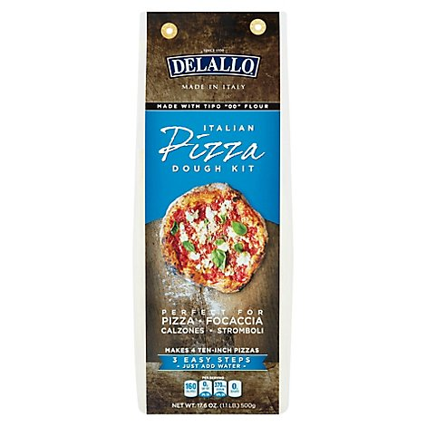 DeLallo Pizza Dough Kit Italian Box - 17.6 Oz