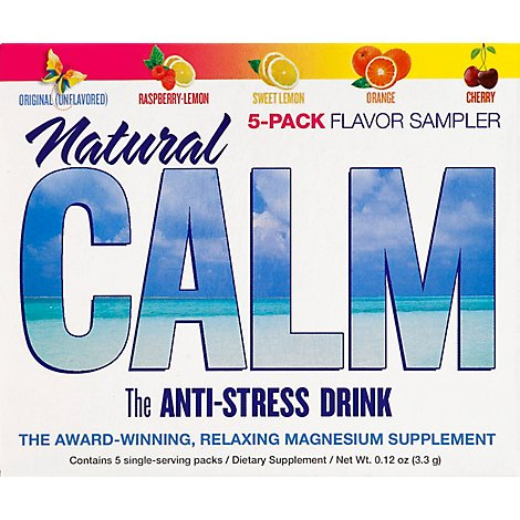 Natural Vitality Calm 5 Flavor Sampler Drink - 5 Count