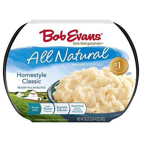 Bob Evans All Natural Mashed Potatoes Classic Homestyle - 20 Oz
