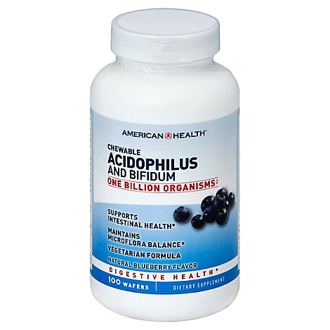 American Health Acidophilus Chew Bluebry - 100 Count