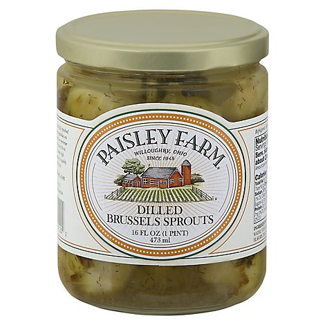 Paisley Farm Brussels Sprouts Dilled - 16 Fl. Oz.