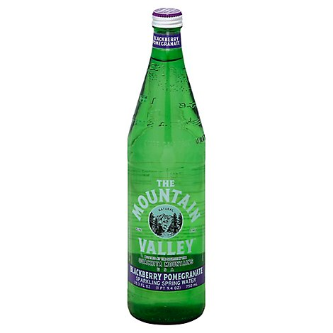 The Mountain Valley Spring Water Sparkling Blackberry Pomegranate - 25.3 Fl. Oz.