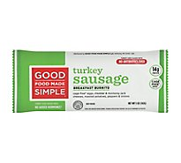 Good Food Made Simple Breakfast Burrito Eggs Cheese & Turkey Sausage - 5 Oz