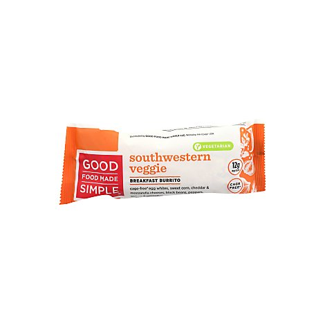 Good Food Made Simple Breakfast Burrito Southwesterm Veggie - 5 Oz