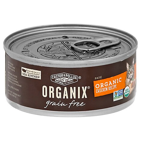 Castor & Pollux Organix Cat Food Organic Adult Grain Free Chicken Pate Can - 5.5 Oz
