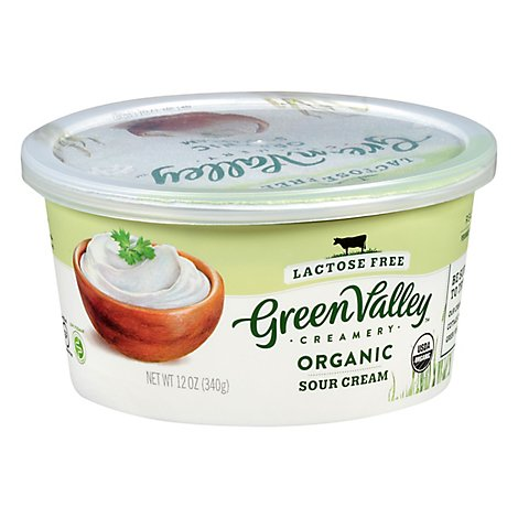 Green Valley Organics Sour Cream Lactose Free - 12 Oz