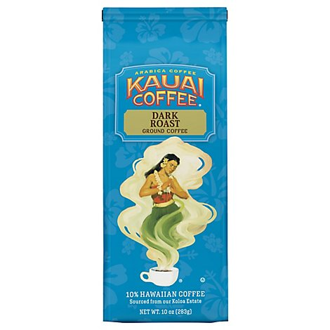 Kauai Coffee Ground Dark Roast Koloa Estate - 10 Oz