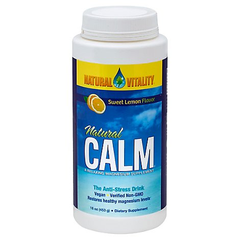 Natural Vitality Vitamin Calm Lemon - 16 Oz