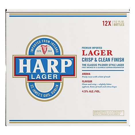 Harp Lager Beer Bottles - 12-12 Fl. Oz.