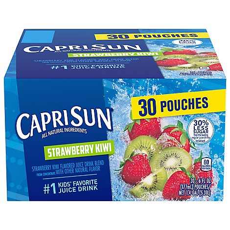 Capri Sun Juice Drink Blend Strawberry Kiwi Flavored Value Pack! - 30-6 Fl. Oz.