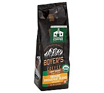 Boyers Coffee Coffee Organic Ground Light Roast Breakfast Blend - 11 Oz