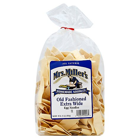 Mrs. Millers Noodles Homemade Egg Noodles Old Fashioned Extra Wide Wrapper - 16 Oz