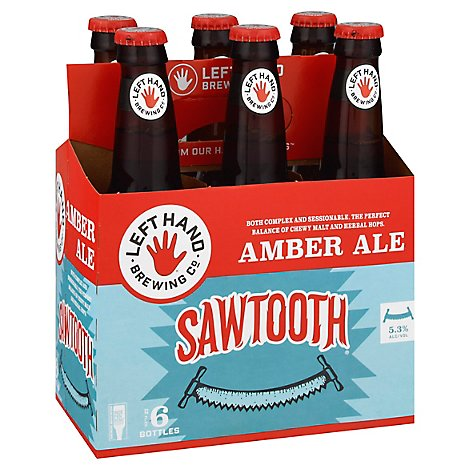 Left Hand Sawtooth Ale Bottles - 6-12 Fl. Oz.
