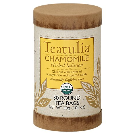Teatulia Herbal Tea Infusion Organic Chamomile - 30 Count