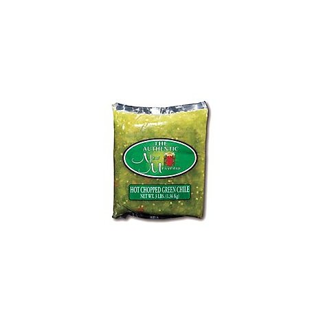 Authentic New Mexican Chili Green Hot Chopped - 3 Lb
