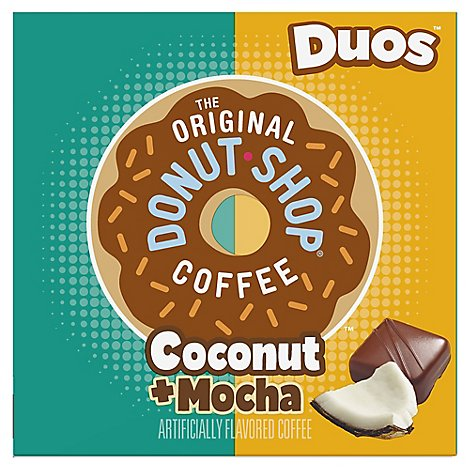 Donut Shop Coffee K-Cup Pods Medium Roast Coconut Mocha - 12-0.34 Oz