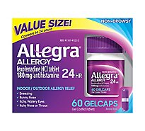 Allegra Allergy 24 Hour Original Prescription Strength 180 mg Gel Coated Tablets - 60 Count