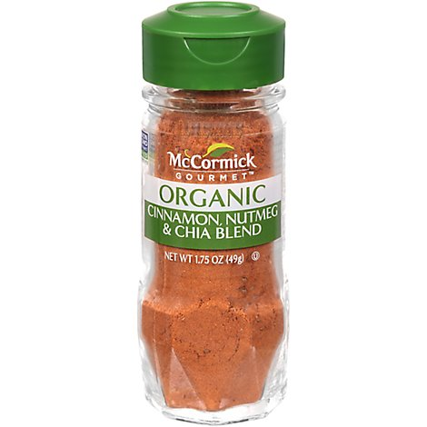 McCormick Gourmet Organic Seasoning Cinnamon & Nutmeg with Chia - 1.75 Oz