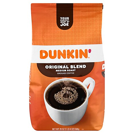 Dunkin Donuts Coffee Ground Medium Roast Original Blend - 20 Oz