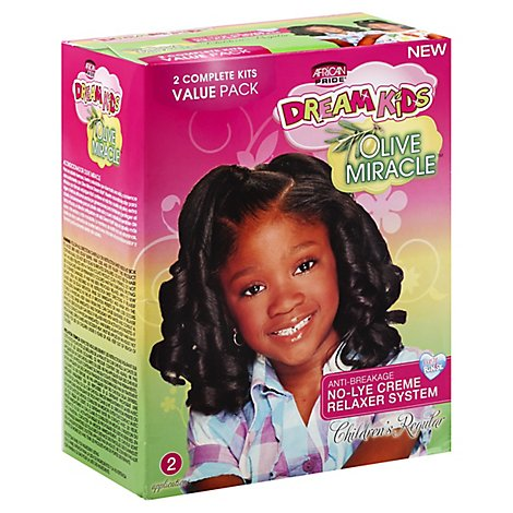 African Pride Olive Miracle Relaxer Regular - 2 Count