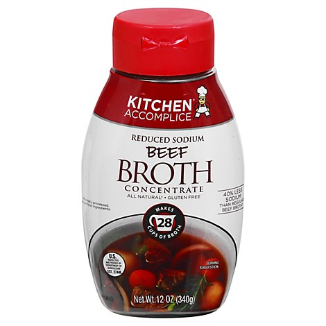Kitchen Accomplice Broth Concentrate Reduced Sodium Beef - 12 Oz