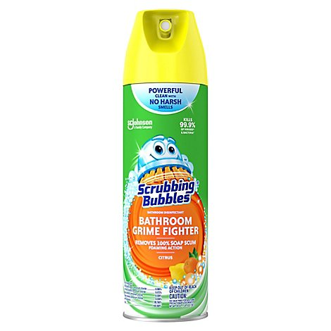 Scrubbing Bubbles Bathroom Grime Fighter Aerosol Citrus 20 oz