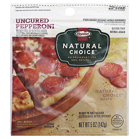 Hormel Natural Choice Pillow Pack Pepperoni - 5 Oz