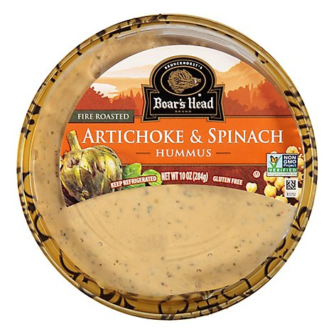 Boars Head Hummus Artichoke Spinach - 10 Oz