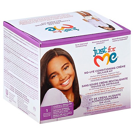 Just For Me Relaxer Kit No-Lye Conditioning Creme Regular Childrens - Each