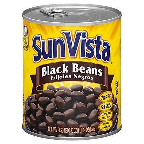 Sun Vista Beans Black - 30 Oz