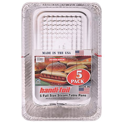 Handi-foil Steam Table Pans Full Size - 5 Count