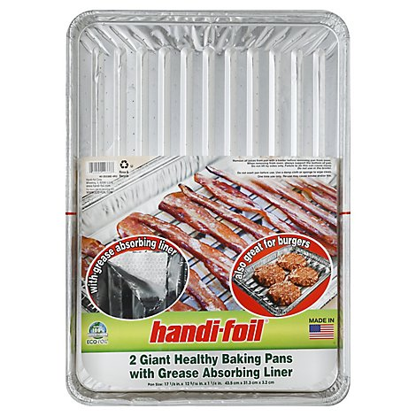 Handi Giant Hlth Broiler Pan - 2 Count