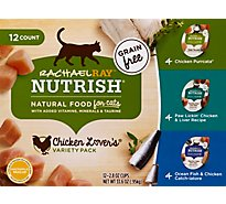 Rachael Ray Nutrish Food for Cats Chicken Lovers Variety Pack - 12-2.8 Oz