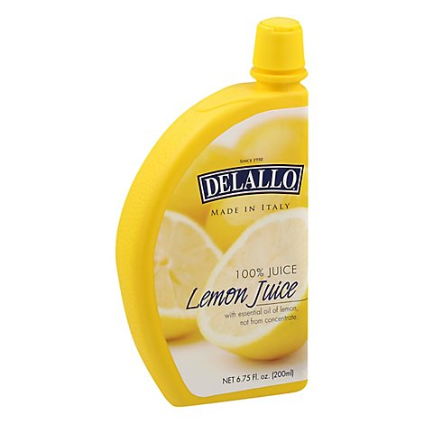 Delallo Juice Lemon - 6.75 Oz