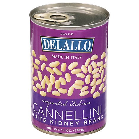Delallo Bean Cannellini With Kidney Beans - 14 Oz