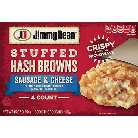 Jimmy Dean Sausage & Cheese Stuffed Hash Browns 4 Count Frozen