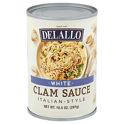Delallo Seafoods Clam Sce White - 10.5 Oz
