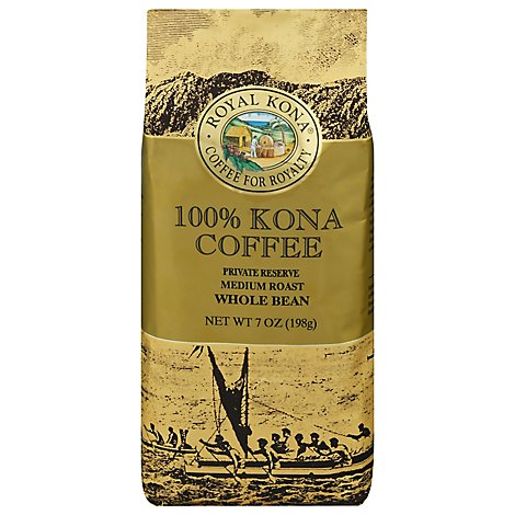 Royal Kona Coffee Private Reserve Whole Bean Medium Roast - 7 Oz