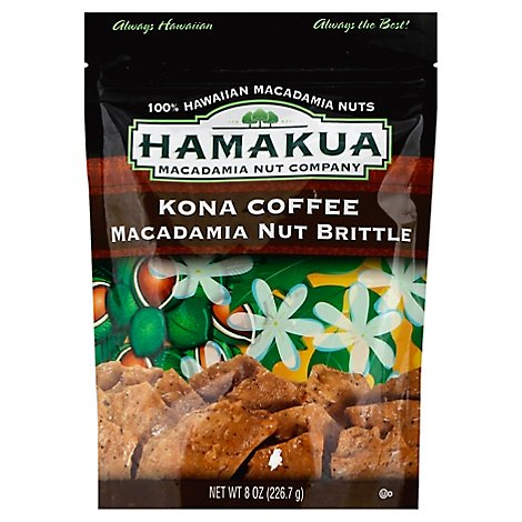 Hamakua Kona Coffee Macadamia Nut Brittle - 8 Oz