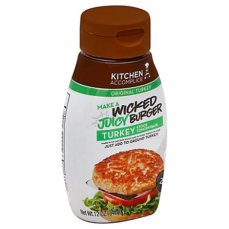 Kitchen Accomplice Stock Concentrate Juicy Wicked Burger Original Turkey - 12 Oz