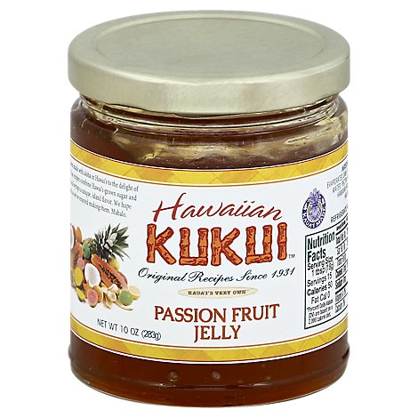 Hawaiian Kukui Jelly Passion Fruit - 10 Oz