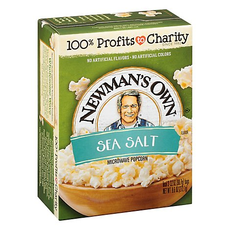 Newmans Own Popcorn Microwave Sea Salt - 3-3.5 Oz