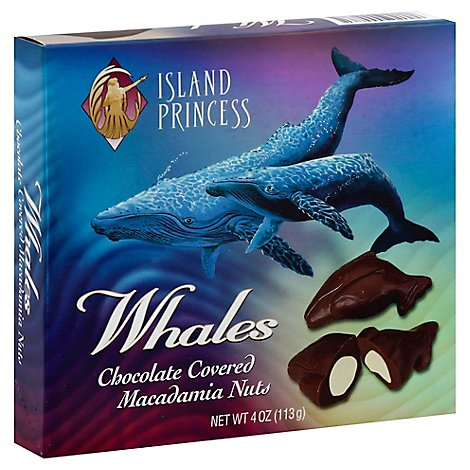 Island Princess Whale Shaped Macadamia Nuts - 4 Oz