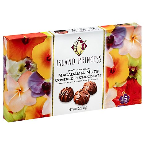 Island Princess Chocolate Macadamia Nuts - 5 Oz