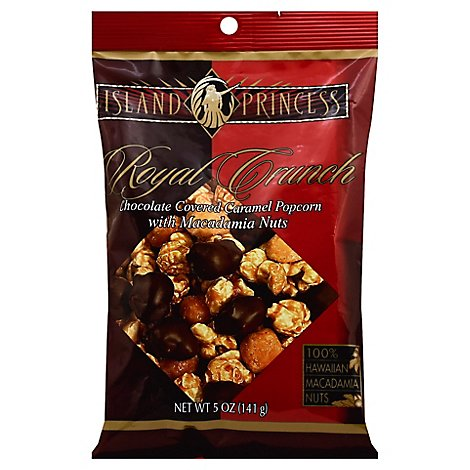 Island Princess Royal Chocolate Covered Caramel Popcorn Crunch - 5 Oz
