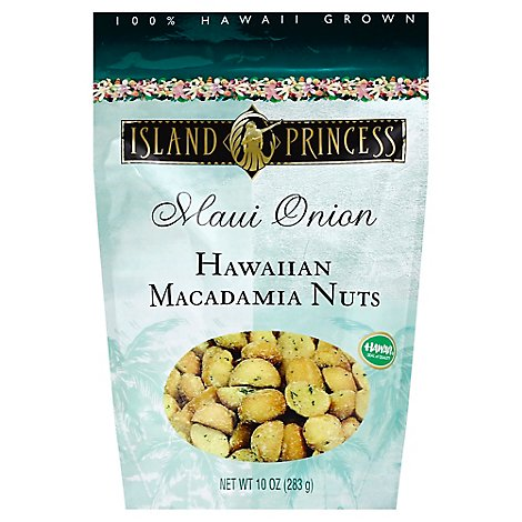 Island Princess Macadamia Nuts Hawaiian Maui Onion - 10 Oz