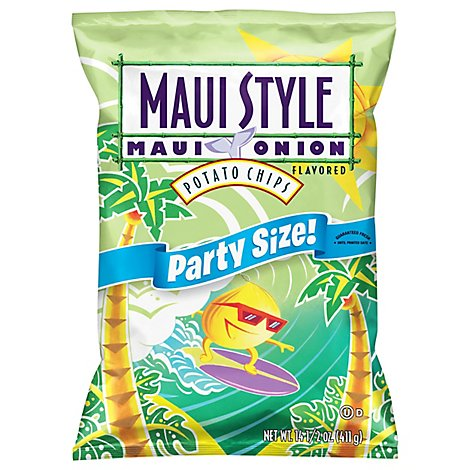 Maui Style Potato Chips Maui Onion Flavored - 14.5 Oz