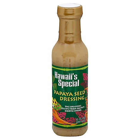 Hawaiis Special Dressing Papaya Seed - 12 Fl. Oz.