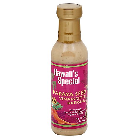 Hawaiis Special Dressing Papaya Seed Vinaigrette - 12 Fl. Oz.