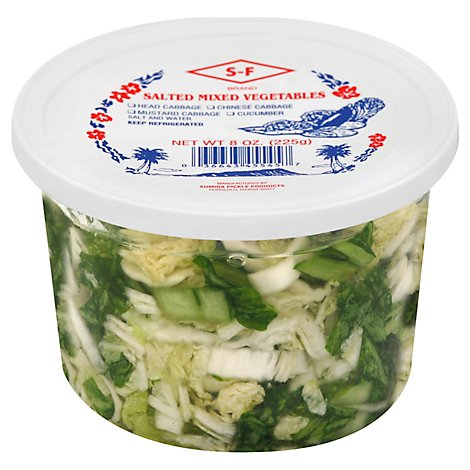 S F Sumida Salted Mix Vegetable Pickle - 8 Oz